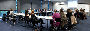 Une salle de formation à la prestigieuse Luxembourg School for Commerce de la Chambre de Commerce du Grand Duché du Luxembourg.